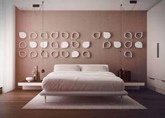 nice Model Kamar Tidur Minimalis Simple Terbaru 2015 Ornamen dinding kamar tidur minimalis