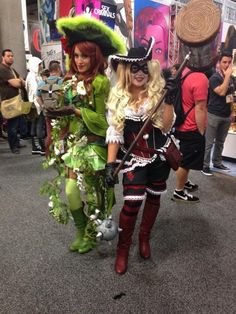Pirate Poison Ivy and Harley Quinn SDCC