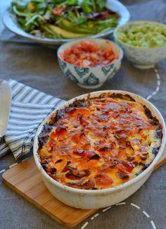 Tacotærte med kødbund.  Jeg elsker mexikansk inspireret mad og så er jeg også ret vild med tærte. En oplagt kombination af de to er jo derfor en tacotærte. Jeg har på flere blogs og i bøger set opskrifter på en sådan tacotærte, men hvor oksekødet var en del af fyldet. Her har jeg derimod ladet mig inspirere af...Read More »