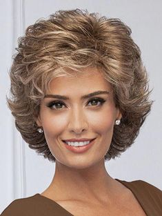 FORTUNE by Eva Gabor on Sale | Buy Online, Wigs Ship Fast | All-over loosely waved layers afford this fashionable, collar-length cut styling ease and easy-to-do, true #shorthairstyles