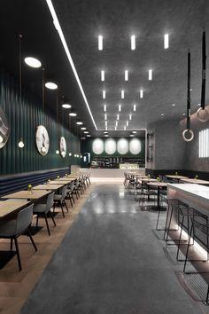 Ideas For Design Cafe Table Restaurant Bar Café Restaurant, Restaurant Concept, Restaurant Branding, Restaurant Interior Design, Industrial Restaurant Design, Cafe Tables, Co Working, Cafe Design, Grafik Design