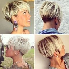 Short Hairstyles For 2017 – 14 (Hair Cuts) Cute Hairstyles For Short Hair, Short Hair Cuts For Women, Pretty Hairstyles, Curly Hair Styles, Medium Hairstyles, Easy Hairstyles, Pixie Hairstyles, Hairstyles Haircuts, Pixie Haircuts