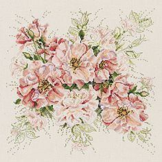 Janlynn Garden Roses Counted Cross Stitch Kit (13 x 13)