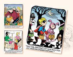 2017 Promo Calendars - Dennis The Menace Comic Art Calendar - October Dennis The Menace Comic, Art Calendar, Comic Art, Halloween Costumes, October, Comics, Comic Book, Comic Books, Comic