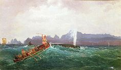 Cornelius Krieghoff | A Whaling Scene, Cornélius Krieghoff Follow the biggest painting board on Pinterest: www.pinterest.com/atelierbeauvoir