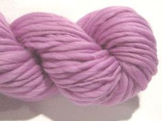 handspun yarn Lilac thick and thin bulky singles merino yarn, 74 yards, merino wool top