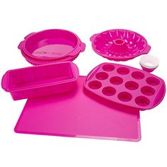 Classic Cuisine 18 Piece Silicone Bakeware Set Fuchsia *** Read more  at the image link. (This is an Amazon affiliate link and I receive a commission for the sales and I receive a commission for the sales)