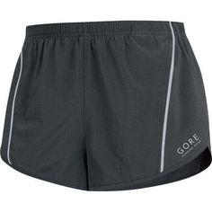 Gore Running Wear Men's Mythos 3.0 Split Shorts, Black, Large. Single color split shorts with reflex details for the ambitious runner. Optimum freedom of movement thanks to optimized cutlines, fit and the comfortable inner shorts. Comfort fit. Zip pocket on back. Integrated pre-shaped inner brief. Adjustable elastic waistband with flat cord. Reflective print on front and back. Reflective logo on front.