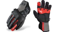 Mechanix Wear M-Pact EXP-1 Glove, Rubberized Grip Impact Protection: TPR molded fingertips, thumb guard and padded knuckle provide full coverage for the top of the hand. Grip: Red silicone printed index finger and palm for added grip, while PORON® XRD™ cushions the palm.