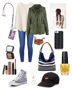 Colleging by sapienzasophie on Polyvore featuring polyvore, fashion, style, MANGO, Converse, Vera Bradley, Panacea, Kate Spade, Savannah Hayes, Benefit, Laura Mercier, OPI and clothing