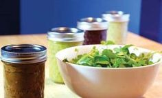 5 Raw Vegan Salad Dressings (Care2 Healthy Living) -- They all sound really yummy: Spicy Almond, Ginger Miso, Creamy Sesame, Creamy Thai and Potato Salad Dressing.