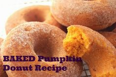 Baked Pumpkin Donuts Recipe | This will be perfect with morning coffee..#food, #recipe
