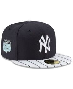 6a93bc73baa New Era New York Yankees Diamond Era Spring Training 59FIFTY Cap -  White Navy 7