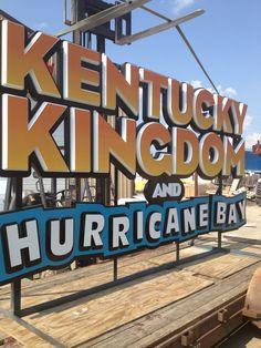 Kentucky Kingdom and Hurricane Bay Sign ready to be installed #kentuckykingdomandhurricanebay #commonwealthsign #louisvilleky