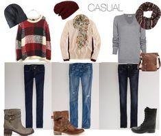 comfy sweaters, mid-calf boots, jeans with a scarf and beanie - perfect for fall or winter! | Dreaming with Gold Eyes