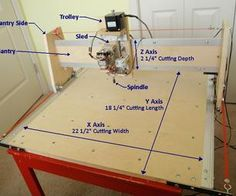 This instructable outlines the assembly process of my generation CNC machine which I designed to be simple to build and quiet enough to be apartment friendly. Cnc Router Table, Cnc Router Plans, Diy Cnc Router, Cnc Plans, Cnc Router Machine, Cnc Woodworking, Arduino Cnc, Wood Cnc Machine, Woodworking Projects