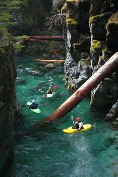 Opal Creek in Oregon. A beautiful trip of kayaking through the mountains.