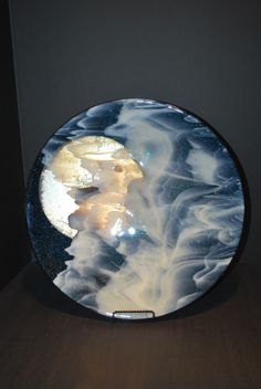 Whimsy Glass. Full Moon Bowl. I make one every month, they never come out the same. Magical.