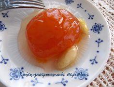 Βερίκοκο γλυκό του κουταλιού | Κρήτη: Γαστρονομικός Περίπλους Preserves, Sweet Recipes, Menu, Pudding, Sweets, Cooking, Breakfast, Ethnic Recipes, Desserts