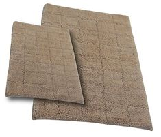 Castle Hill CH-BR-20X30&24X40-SUMT-2PCS-NAT 2-Piece Bath Rug Sets, 20 by 30-Inch/24 by 40-Inch, Natural