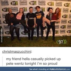 Picking up Pete Wentz
