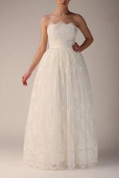 Wedding gown off white maxi tutu tulle skirt maxi por Fanfaronada