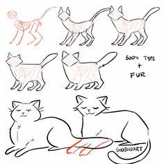 Cartoon Drawing Tips Cat Drawing Tips - Drawing Skills, Cat Drawing, Drawing People, Drawing Tips, Drawing Reference, Drawing Stuff, Drawing Cartoon Characters, Character Drawing, Cartoon Drawings