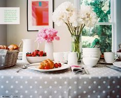 Perfect table settings for a #tea #party.