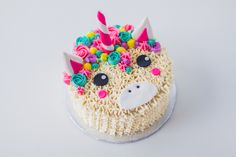kawaii unicorn cake by cococakeland