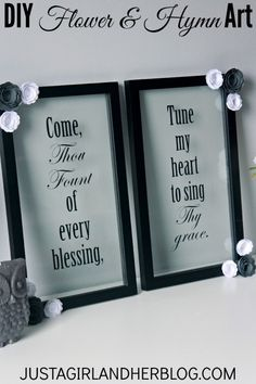 beautiful hymn art using floating frames justagirlandherblogcom