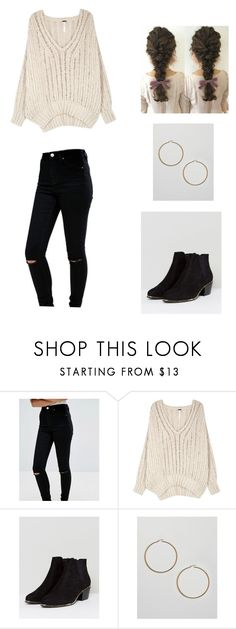 """""""Hoop Earrings Outfit"""" by hannahhutton on Polyvore featuring ASOS and Free People"""