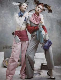 #VogueKorea [] Art Factory [] [] [] Kim Jin Kyung n' Lee Ho Jung  [] by Kim Bo Sung [] March 2014 [] [] []