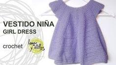 vestido crochet - YouTube