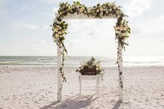 Beach Ceremony Set up Florist: Signature Florals Photographer: Limelight Photography Videographer: Fidelis Films Off-Site Wedding Planner: CocoLuna Events Marco Island Wedding Sunset Wedding, Wedding Beach, Our Wedding, Destination Wedding, Beach Ceremony, Marco Island, Island Weddings, Florals, Wedding Planner