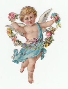 Vintage cherub for Valentine's Day Vintage Cards, Vintage Images, Victorian Angels, Victorian Crafts, Cherub Tattoo, Angel Wallpaper, Foto Transfer, Angel Drawing, Angel Images