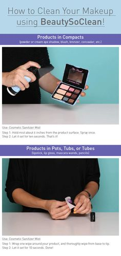 How to Clean Your Makeup! This will keep winter germs away.