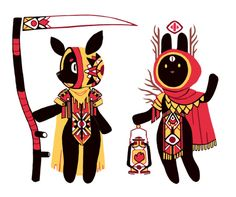 """""""sun doe and bun witch"""" - http://rabbiting.tumblr.com/"""