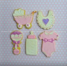 Decorated baby cookies