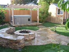 Hot Tub Patio with Fire Pit AreamodernSpacesOther Metro