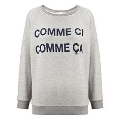 Comme Ci Comme Ca Sweatshirt found on Polyvore