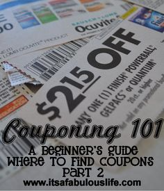 Couponing 101 Where to find coupons part 2