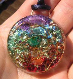 7 Chakras Orgone Orgonite Energy Crystal by mysticrocksorgone, $24.99