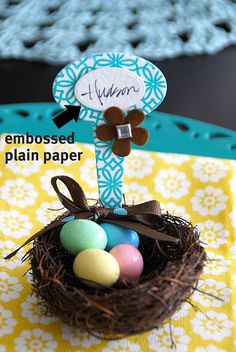 Spring Project -- Make these cute Nest Placard holders! -- Tatertots and Jello