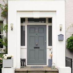 Garage Door Colors, Front Door Colors, House Front Porch, House Entrance, Porch Doors Uk, Front Door Canopy, Victorian Front Doors, Porch Interior, Composite Front Door