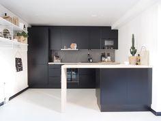 Dark small kitchen in Turku, Finland