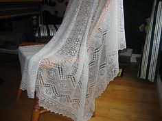 wedding ring shawl knit pattern