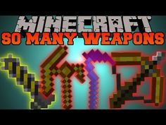 Minecraft: SO MANY WEAPONS (CHAINSAWS, SWORDS AND LIGHTSABER) So Many Swords Mod Showcase