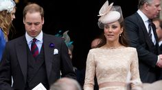 Prince William and Kate, Duchess of Cambridge, leave St Paul's Cathedral