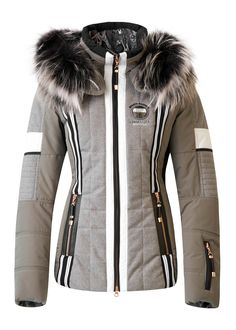 SAIWA GREY SKI JACKET FOR WOMEN