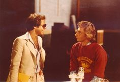 Ron Dante and Barry Manilow on the set of The Second Barry Manilow Special.